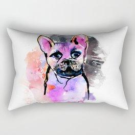 Pink Frenchie Rectangular Pillow