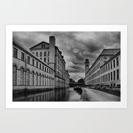 Yorkshire Mills Art Print