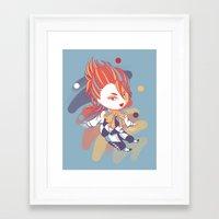 kuroshitsuji Framed Art Prints featuring Kuroshitsuji: Little Joker by El Cadejos