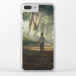 Familiar #8 Clear iPhone Case
