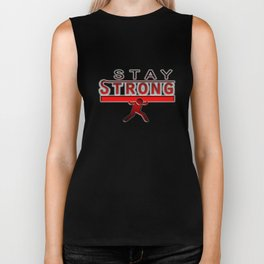Funny Stay Strong Icon Biker Tank