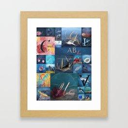 A, B, Seas Framed Art Print