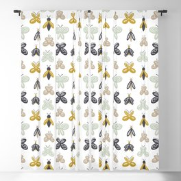 Scandinavian Bugs and Butterflys Blackout Curtain