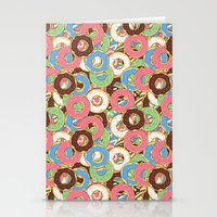 donuts Stationery Cards featuring Donuts by Beesants