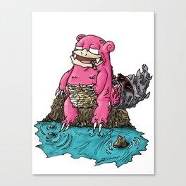 Dopémon - Slowbro Canvas Print