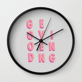 Good Evening - Typography Wall Clock