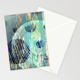 NL 6 17 Abstract Blue Grunge Ocean Stationery Cards