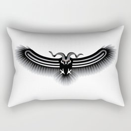Horned Owl on the Hunt Rectangular Pillow