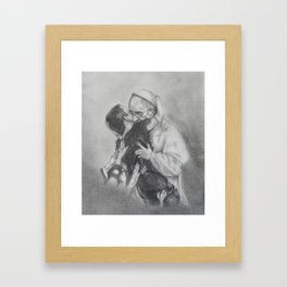 Pope Francis - Showing Us How To Love Framed Art Print