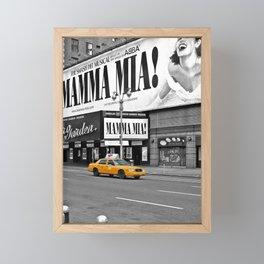 NYC - Yellow Cabs - Musical - High Framed Mini Art Print