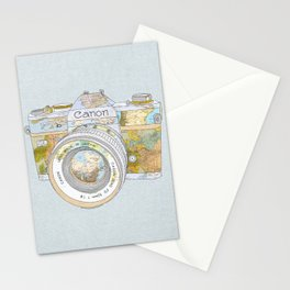 TRAVEL CAN0N Stationery Cards