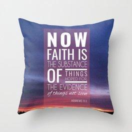 Hebrew 11:1 Throw Pillow