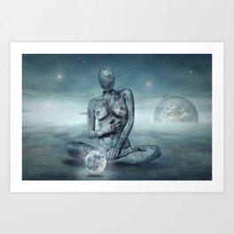 Mrs. Moon Art Print