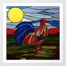 Little rooster Art Print