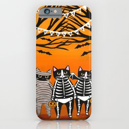 Halloween Trick or Treaters iPhone Case