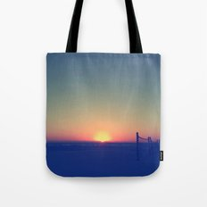 Distant Sunset Tote Bag