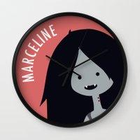 marceline Wall Clocks featuring Marceline by gaps81