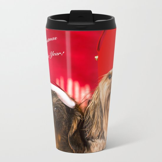 Merry Christmas and Happy New Year! Metal Travel Mug