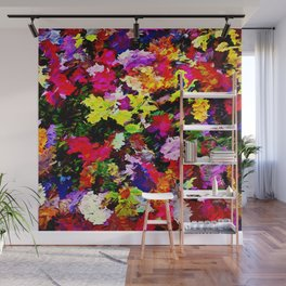 Fallen Autumn Leaves Abstract Wall Mural