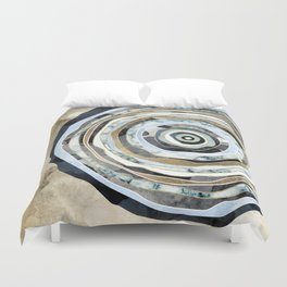 Wood Slice Abstract Duvet Cover