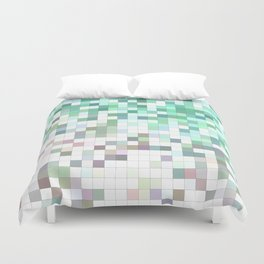 Light bathroom mosaic Duvet Cover