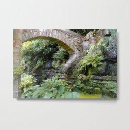 A Stone Arch Decorates the Garden Metal Print