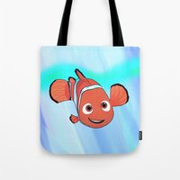 nemo Tote Bags featuring Nemo by paulusjart
