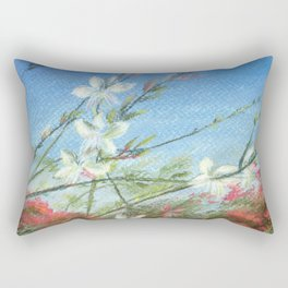 Wildflowers - blue horizon Rectangular Pillow