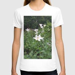 Japanese Lilies // Flower Field Bush In Park T-shirt