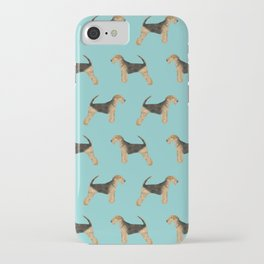 Airedale Terrier pattern dog breed cute custom dog pattern gifts for dog lovers iPhone Case