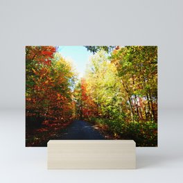 Into the Fall Forest Mini Art Print