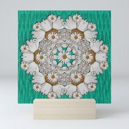 Flower wreaths mandala in wonderful summer style Mini Art Print