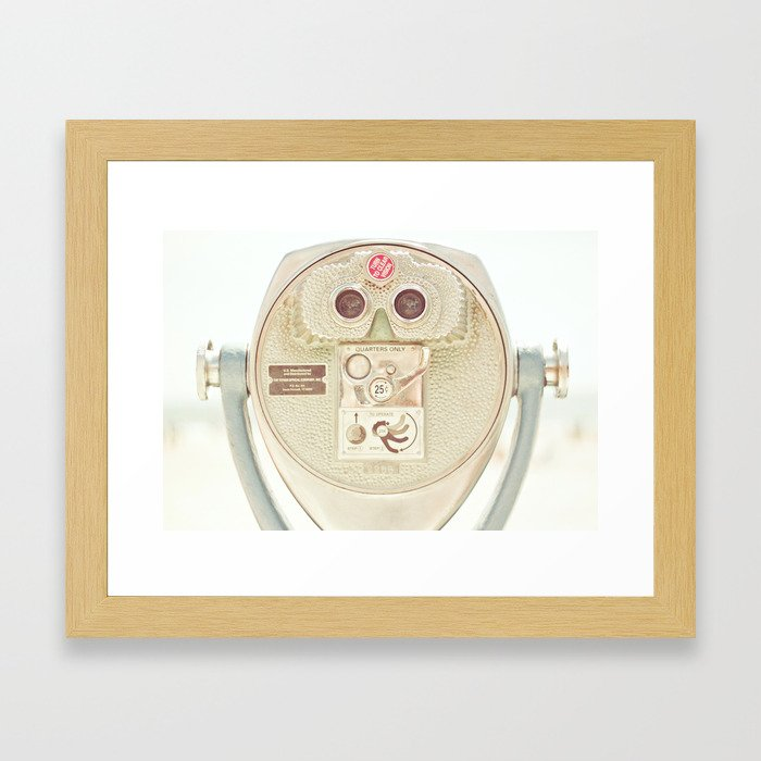 Beach Binoculars Framed Art Print