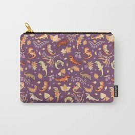 Autumn Geckos in purple Carry-All Pouch