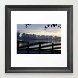 The Dock at night Framed Art Print