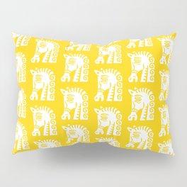 Mid Century Horse Pattern Yellow Pillow Sham