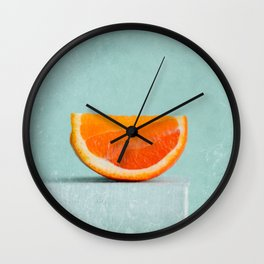 summer in orange II Wall Clock