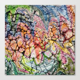 Painted Broken Concrete Abstract Graffiti Canvas Print