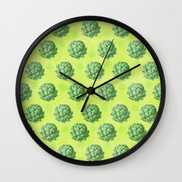 Artichoke pattern Wall Clock
