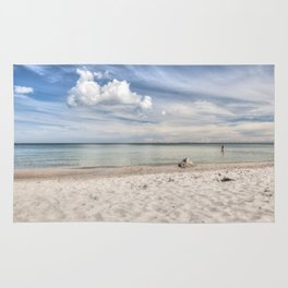 Dream beach Sea Ocean Summer Maritime Navy clouds Rug