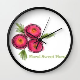 Floral Sweet Floral Wall Clock