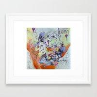 best friends Framed Art Prints featuring best friends by Kira Leigh