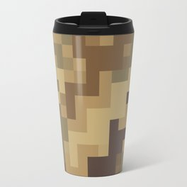 Army Camouflage Pixelated Pattern Brown Dirt Desert Travel Mug