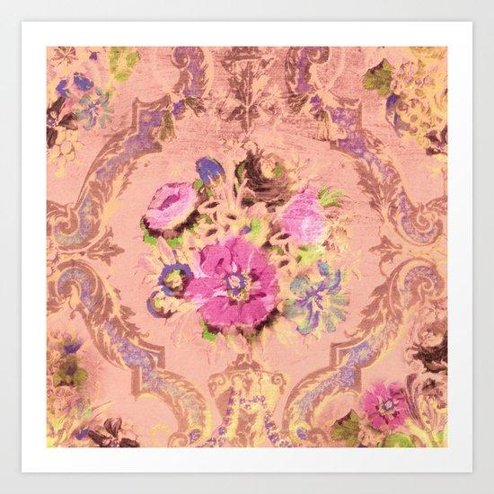 Flowers in a Pink Sky Art Print