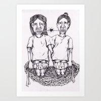 LOVE NEST Art Print
