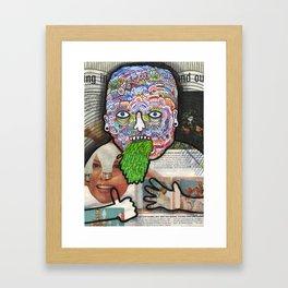 Spew. Framed Art Print