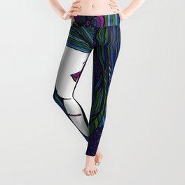 Beach Mermaid Lady Leggings