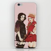 arya iPhone & iPod Skins featuring A Queen & her Knight by Noble Demons