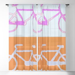 Bicycles Sheer Curtain