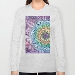 Purple Butterfly Mandala Long Sleeve T-shirt